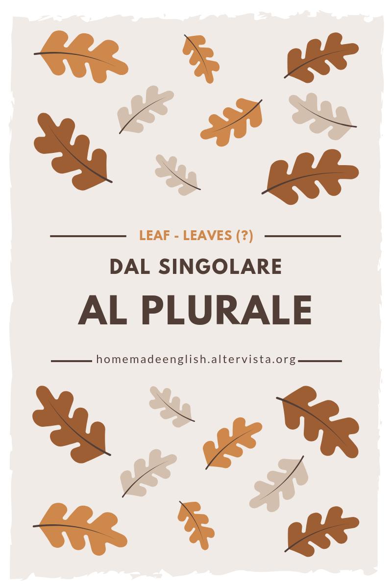 Formare il plurale in inglese